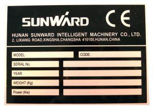 sunward machineplaatje