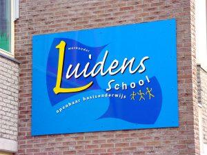 luidensschool reclameborden