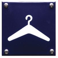 Emaille blauwe deurplaten
