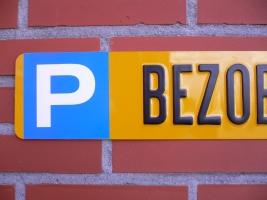 Parkeerbord kentekenplaat