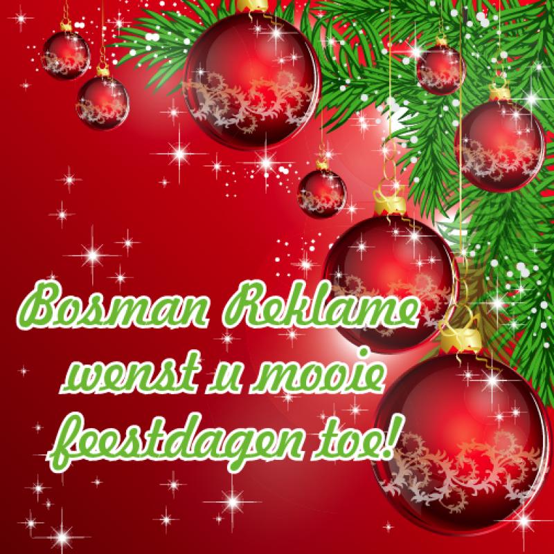 Fijne feestdagen namens bosman