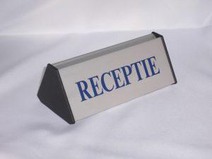 Receptie bordje
