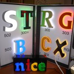 acrylaatletters met LED