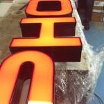 Letters verlicht met LED