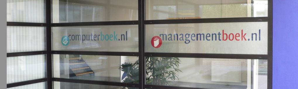 managementboek ramen met folie