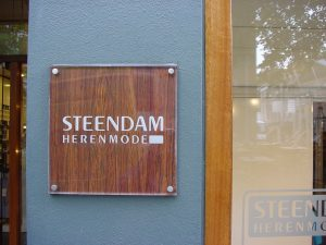 naamplaat acrylaat met houtlook