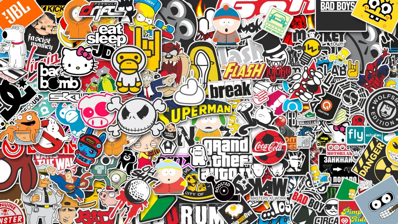 stickers verzameling