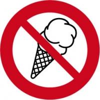 verboden voor ijs