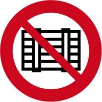 verboden voor pallets