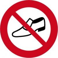 verboden voor schoenen