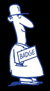 Badges met mannetje