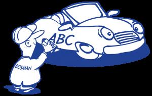 mannetje-autoreclame-sedan