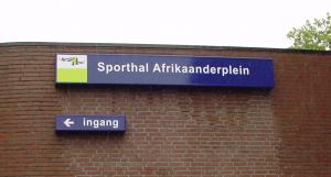 sporthal afrikaanderplein lichtbak