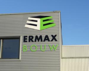 Ermax Bouw belettering