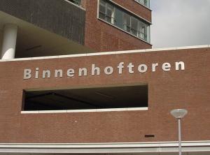 RVS letters Binnenhoftoren
