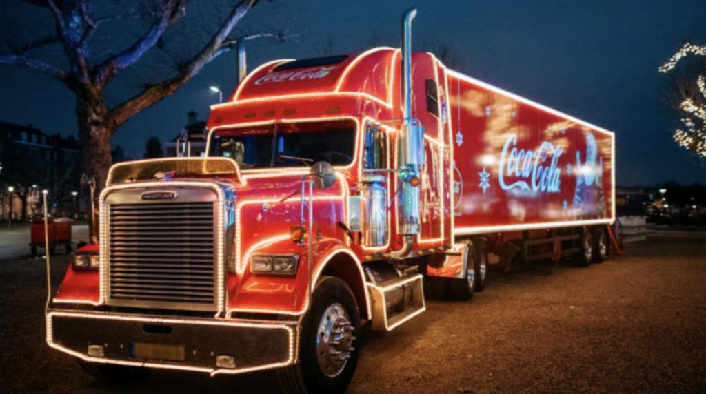 autobelettering coca-cola truck